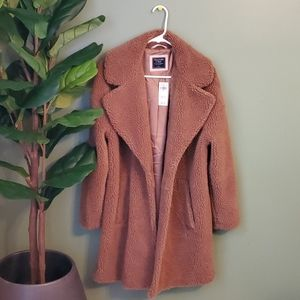 [Abercrombie & Fitch] Long Teddy Coat